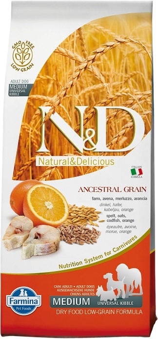 Farmina Natural and Delicious Ancestral Grain Wild Cod Recipe Dry Dog Food