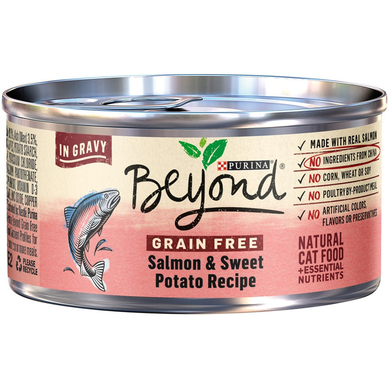 Purina Beyond Grain-Free Salmon & Sweet Potato Recipe in Gravy Canned Cat Food