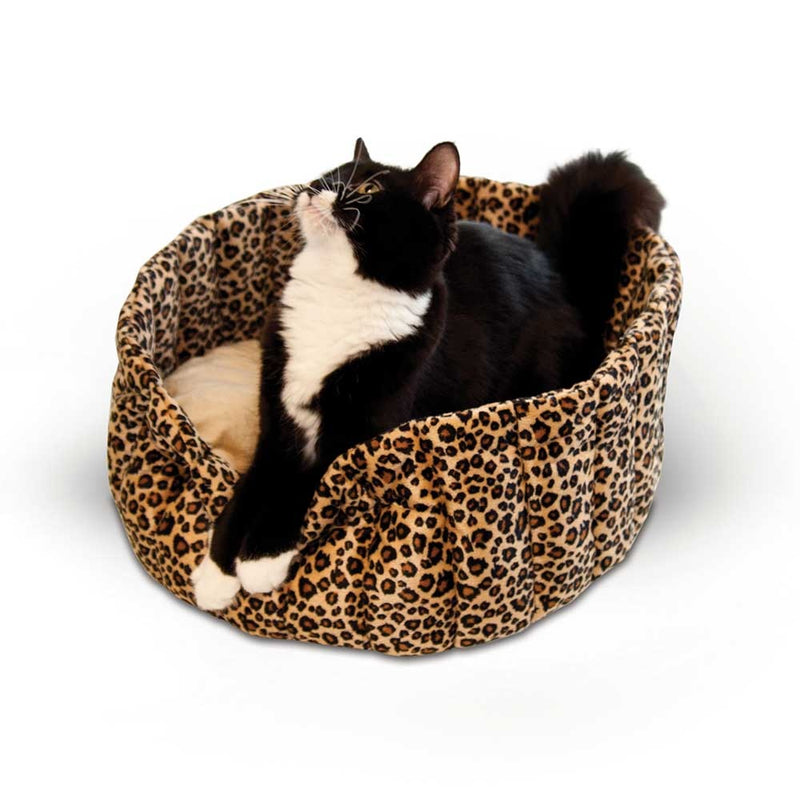 K&H Pet Products Lazy Cup Leopard Cat Bed