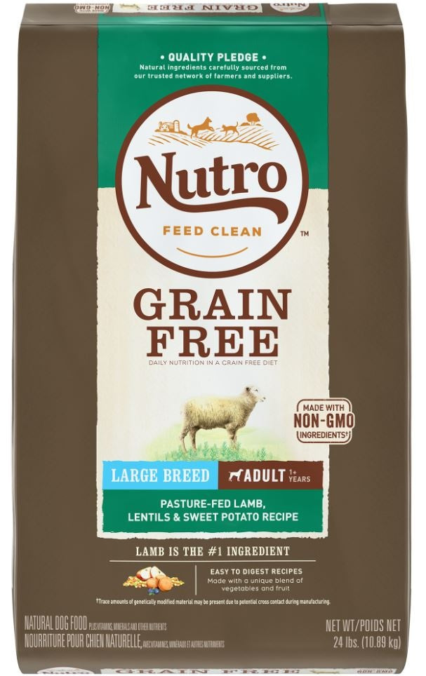 Nutro Grain-Free Large Breed Adult Lamb, Lentils and Sweet Potato Dry Dog Food