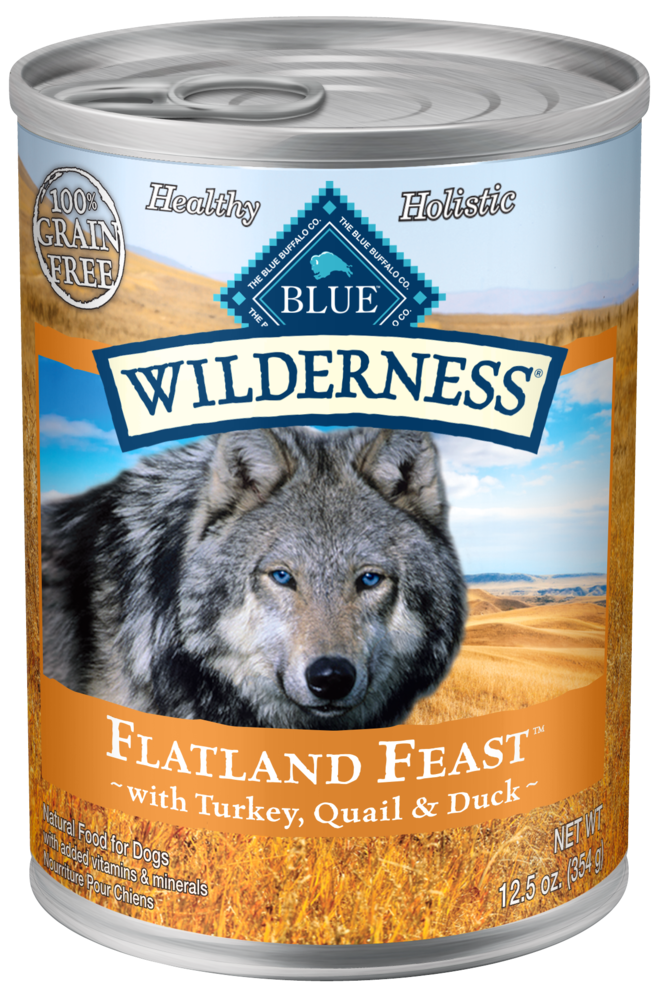 Blue Buffalo Wilderness Grain Free Flatland Feast with Turkey, Duck and Quail Canned Dog Food