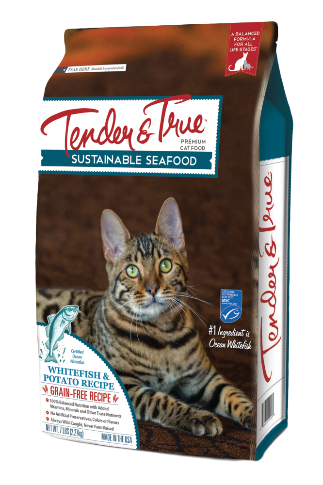 Tender & True Grain Free Ocean Whitefish and Potato Recipe Dry Cat Food