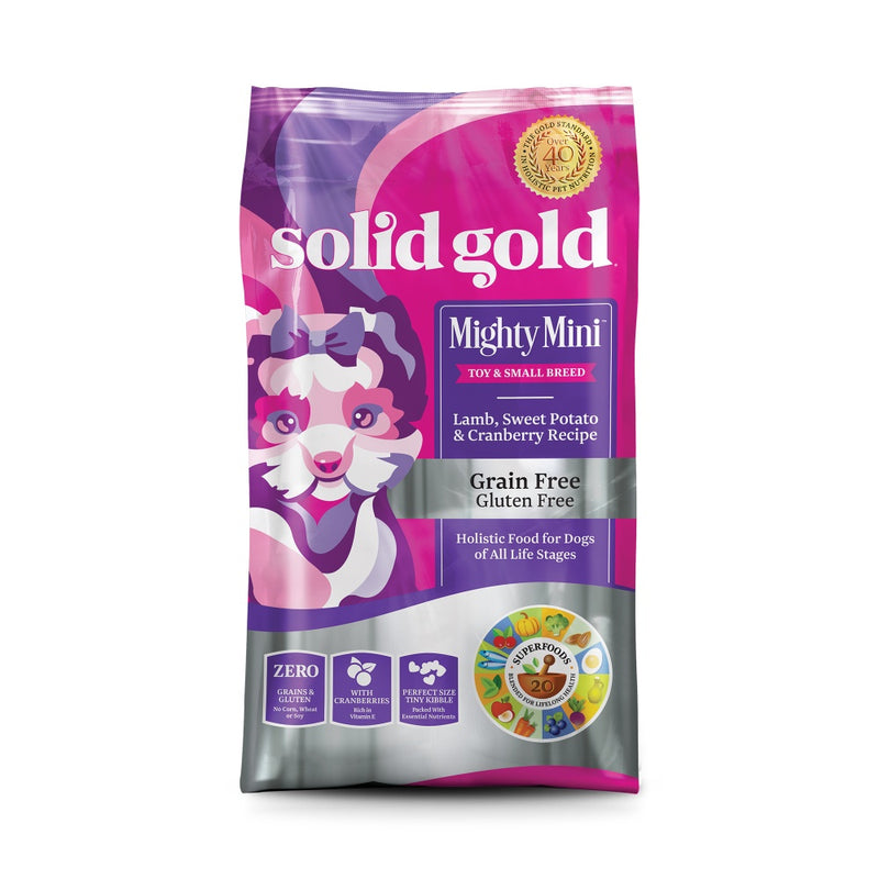 Solid Gold Mighty Mini Grain Free Toy and Small Breed Recipe with Lamb, Sweet Potato & Cranberry Dry Dog Food