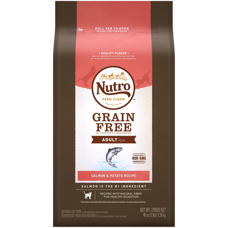 Nutro Grain Free Adult Salmon and Potato Recipe Dry Cat Food