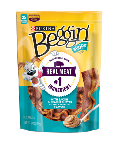 Beggin Strips Bacon & Peanut Butter Flavor Dog Treats