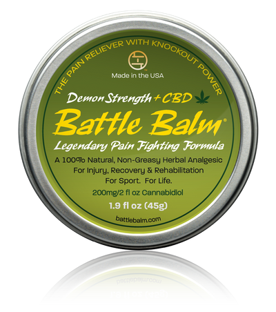 Battle Balm Demon Strength + CBD Cannabidiol Full Size All-Natural Topical Pain Relief Cream Balm for Arthritis & More