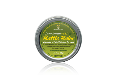 Battle Balm Demon Strength + CBD Cannabidiol Personal Size All-Natural Topical Pain Relief Cream Balm for Arthritis & More