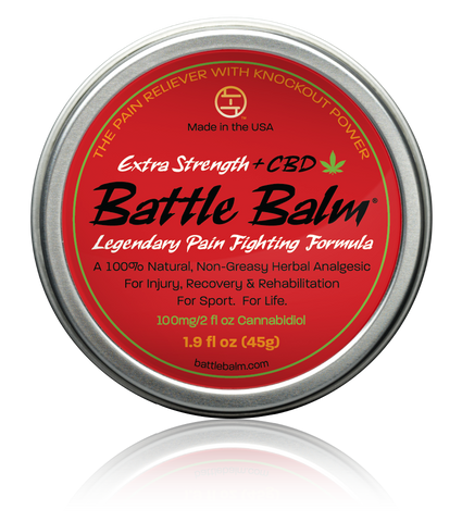 Battle Balm Extra Strength + CBD Cannabidiol Full Size All-Natural Topical Pain Relief Cream Balm for Arthritis & More