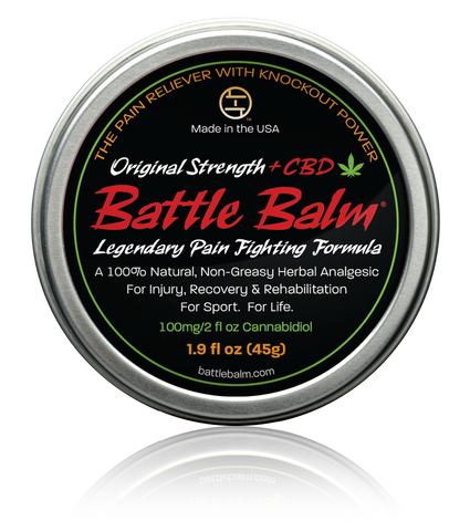 Battle Balm Original Strength + CBD Cannabidiol Full Size All-Natural Topical Pain Relief Cream Balm for Arthritis & More