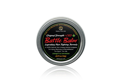 Battle Balm Original Strength + CBD Cannabidiol Personal Size All-Natural Topical Pain Relief Cream Balm for Arthritis & More
