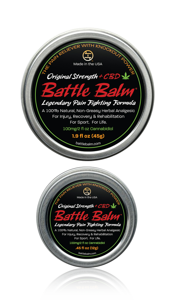 Battle Balm Original Strength + CBD Cannabidiol All-Natural Topical Pain Relief Cream Balm for Arthritis & More