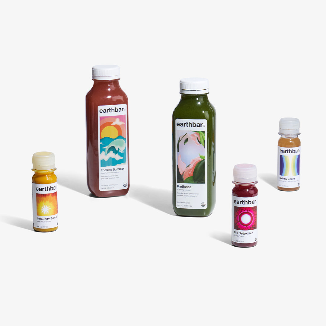 cold pressed juice and shots