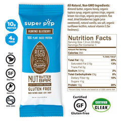 Super Pop Almond Blueberry Bar