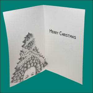 Pack of 4 Mixed Design Christmas Cards