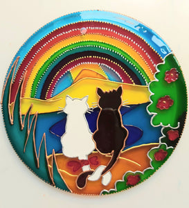 Seaside Cats Rainbow Suncatcher