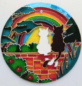 Woodland Cats Rainbow Suncatcher