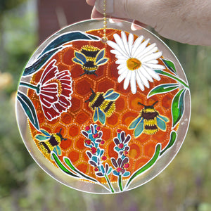 Bumble Bee Hanging Sun Catcher