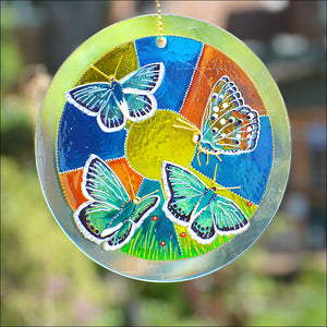 Chalk Hill Blue Butterfly Suncatcher