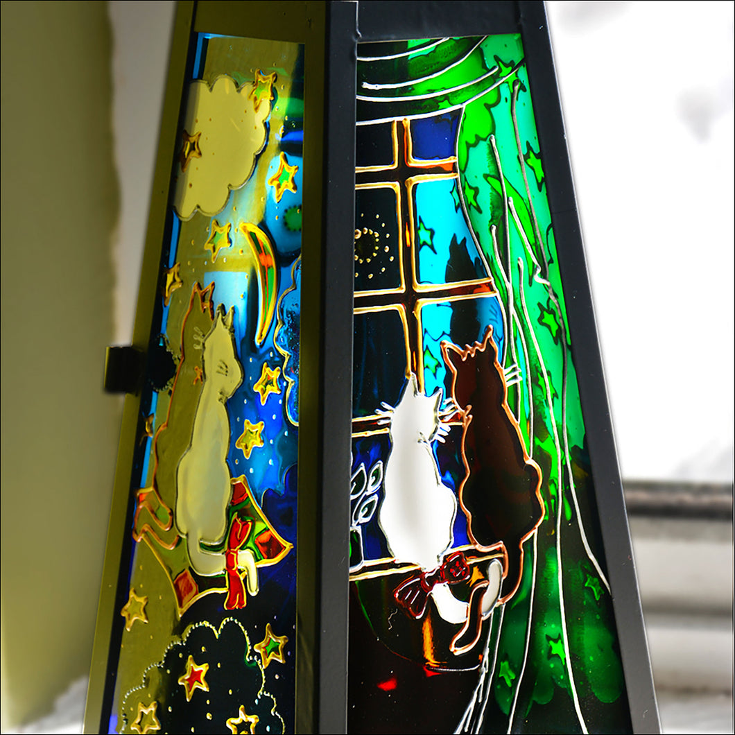 Cats at the Window Art Lantern