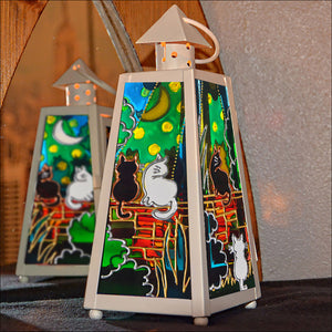 Cats on Wall Tealight Lantern