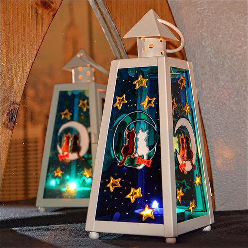 Cats on the Moon Lantern - Small