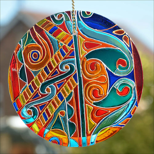 Celtic Knots Colourful Pattern Suncatcher