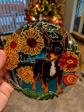 Chihuahua Custom Pet Portrait, Stained Glass Memorial