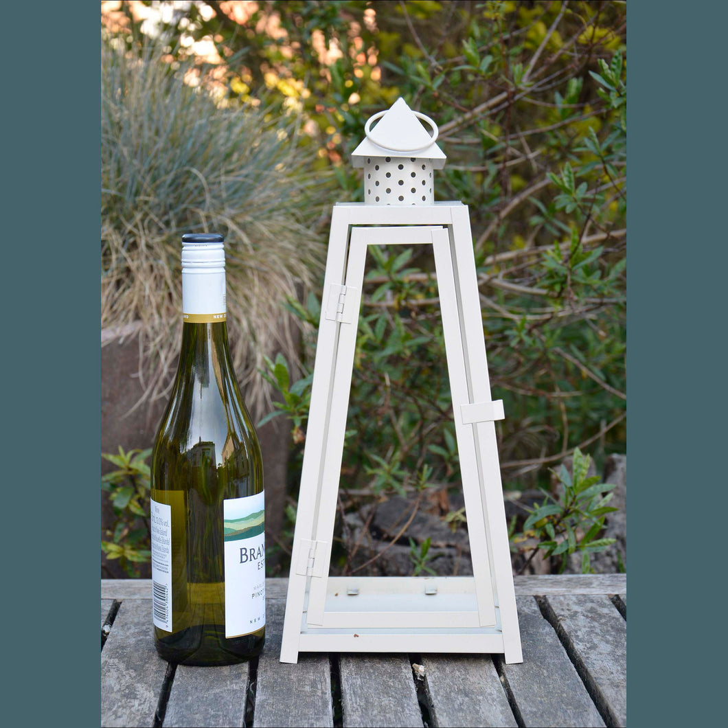 Cream Metal Lantern Frame - Large Size