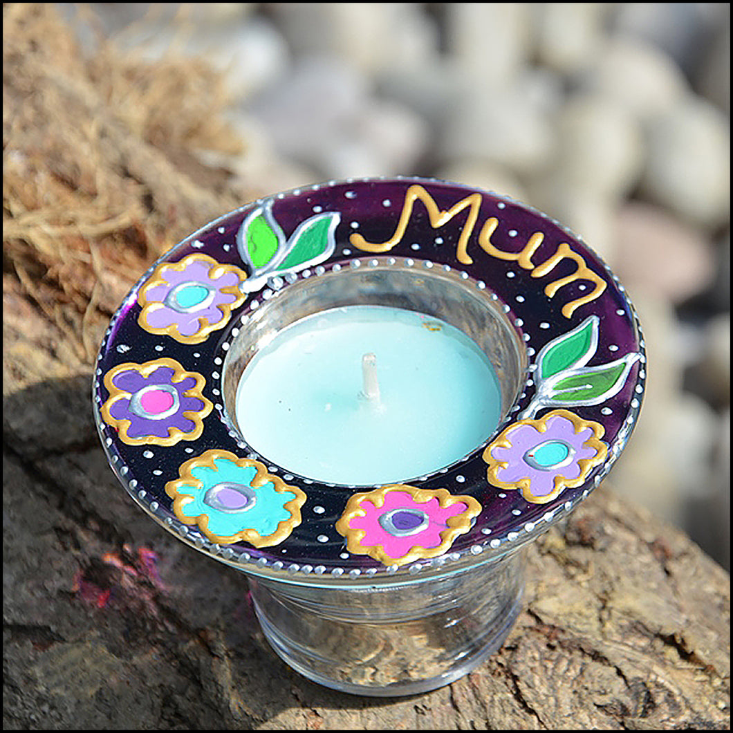 Dahlia Flowers Bespoke Meditation Tealight Holder