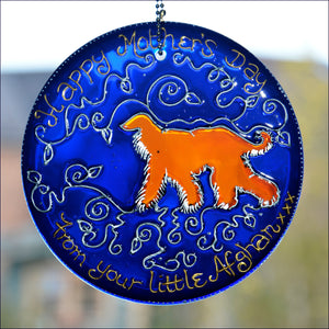 Afghan Dog Mother's Day Suncatcher