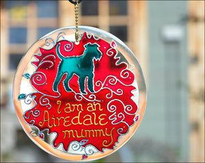 Airedale Dog Owner Hanging Suncatcher