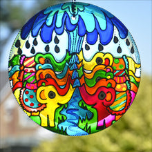 Stained Glass Elephant Shower Suncatcher