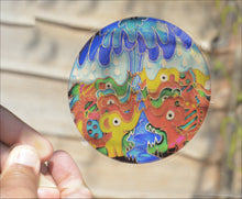 Elephants Bathtime Window Cling - Five Inches Diameter