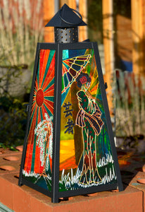 Japanese Geisha Sunset Lantern