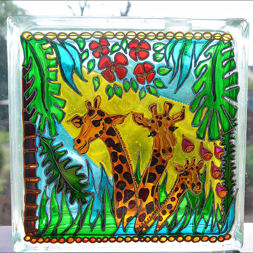 Giraffe Jungle Sun Catcher