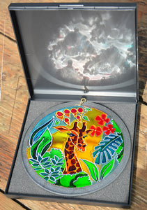 Giraffe Art Jungle Sun Catcher