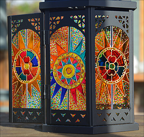 Completely Custom MEDIUM Moroccan Lantern in BLACK