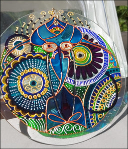 Blue & Green Mandala Suncatcher