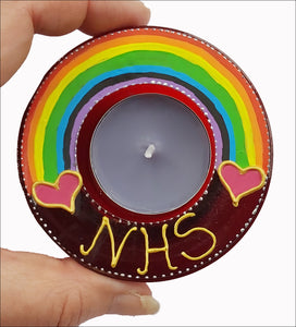 Thank You NHS Rainbow Candle Holder