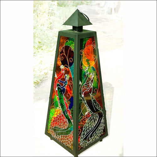 Completely Custom LARGE Pyramid Lantern in BLACK