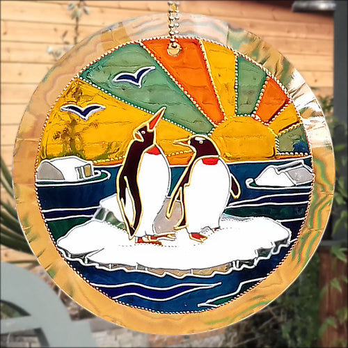 Snow Penguin Sun Catcher