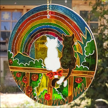 Rainbow Cats Hanging Suncatcher