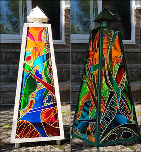Super Large Abstract Art Lantern in Brilliant Colour