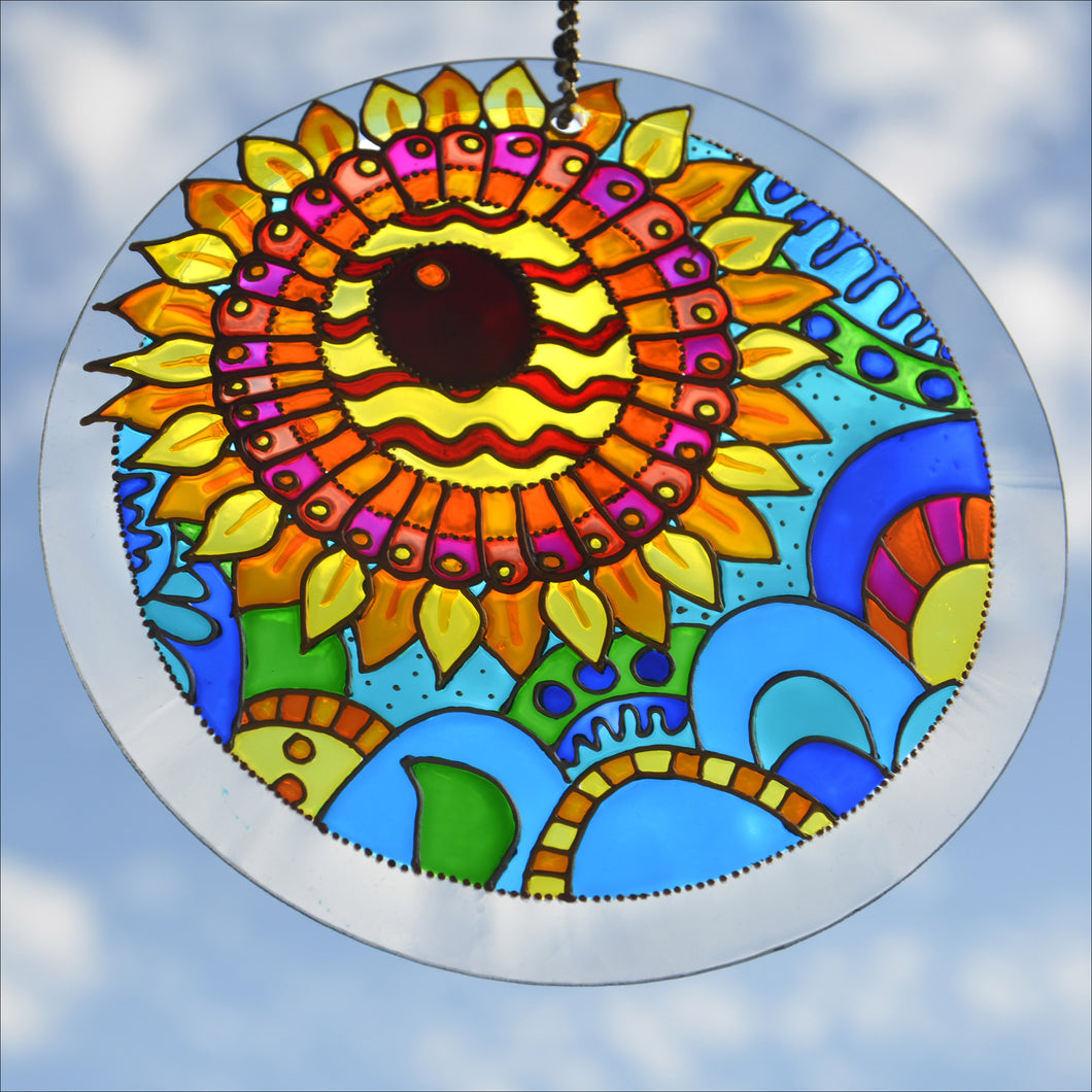 Shining Sunflower Suncatcher