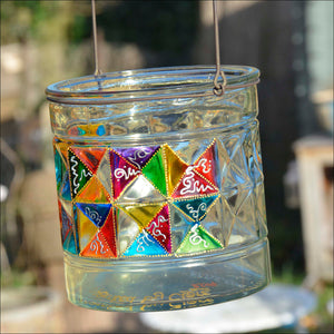 Chunky Clear Glass Candle Lantern