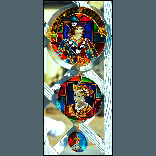 King Richard III & Family Triple Suncatcher