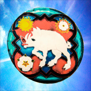 "Richard III's White Boar  - 5"" Static Window Cling"