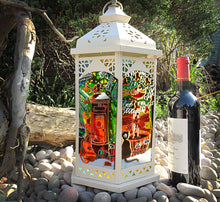 Christmas Cat Postbox Lantern