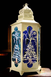Christmas Trees Candle Lantern
