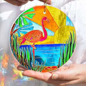 Florida Flamingo Sunshine Roundel